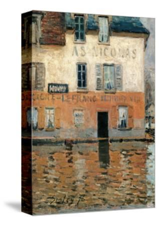 Flood at Port Marly-Alfred Sisley-Stretched Canvas Print
