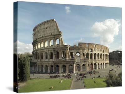 Flavian Amphitheatre or Coliseum in Rome, 79-80 A.D. Rome, Italy--Stretched Canvas Print