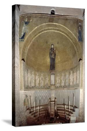 Mosaic Depicting the Madonna and Child and the Twelve Apostles, in the Cupola, Looking Forward--Stretched Canvas Print
