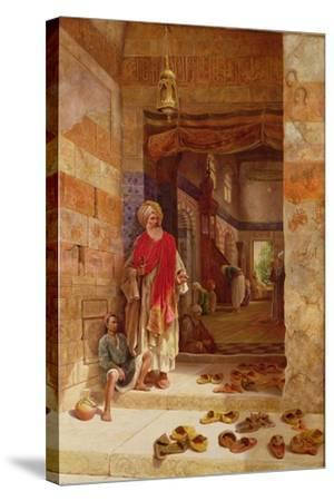 In the Name of the Prophet, Alms! 1877-Charles Robertson-Stretched Canvas Print