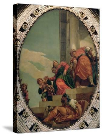 Esther Conducted to Ahasuerus-Paolo Veronese-Stretched Canvas Print
