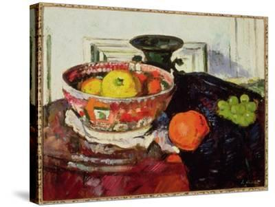 Still Life - Chinese Bowl-George Leslie Hunter-Stretched Canvas Print