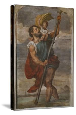 St. Christopher, 1523-24-Titian (Tiziano Vecelli)-Stretched Canvas Print