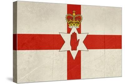 Grunge Ulster Flag Of Northern Ireland Illustration, Isolated On White Background-Speedfighter-Stretched Canvas Print