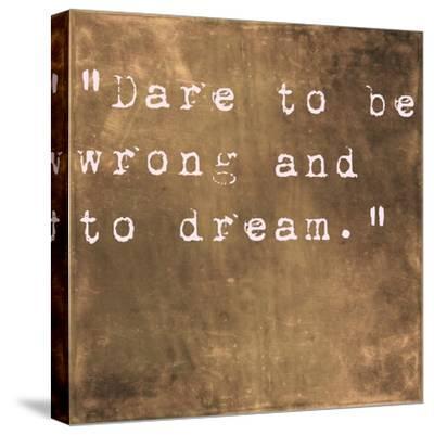 Inspirational Quote By Friedrich Von Schiller On Earthy Brown Background-nagib-Stretched Canvas Print