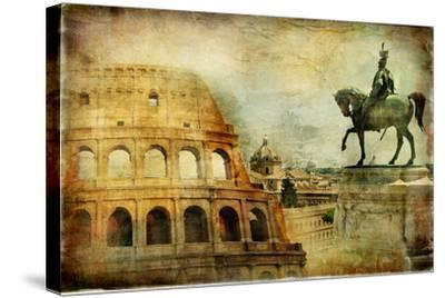 Great Rome - Artwork In Painting Style-Maugli-l-Stretched Canvas Print