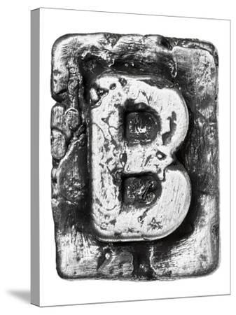 Metal Alloy Alphabet Letter B-donatas1205-Stretched Canvas Print