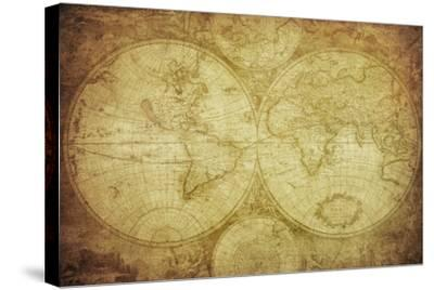 Vintage Map Of The World-javarman-Stretched Canvas Print