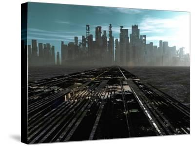 Road To Dead City-rolffimages-Stretched Canvas Print