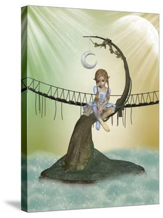 Tree Moon-justdd-Stretched Canvas Print