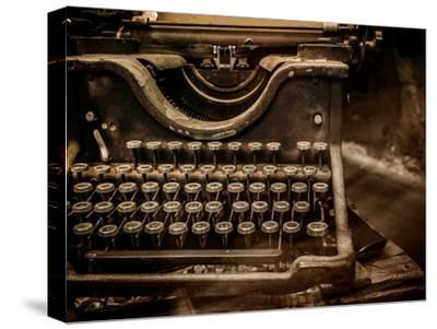 Old Rusty Typewriter-NejroN Photo-Stretched Canvas Print