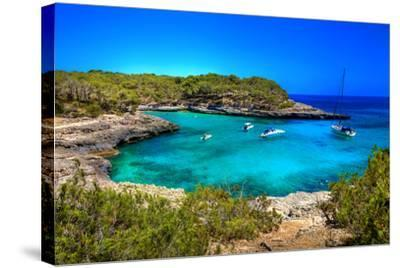 Beautiful Turquoise Bays In Stunning Mallorca-Maugli-l-Stretched Canvas Print