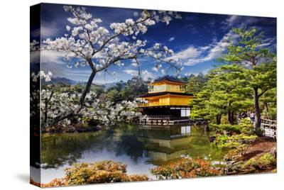 Gold Temple Japan-NicholasHan-Stretched Canvas Print