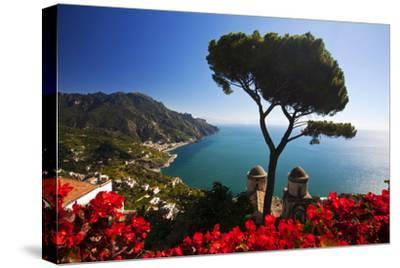 View of the Amalfi Coast from Villa Rufolo in Ravello, Italy-Terry Eggers-Stretched Canvas Print
