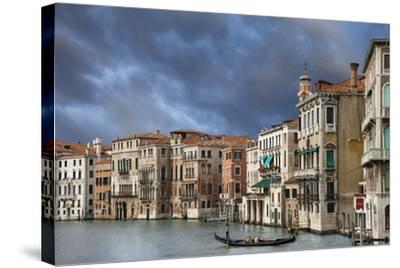 A Gondola on the Grand Canal, Venice, Italy-Jaynes Gallery-Stretched Canvas Print