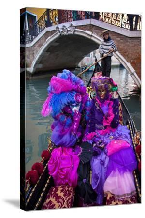 Elaborate Costumes for Carnival Festival, Venice, Italy-Jaynes Gallery-Stretched Canvas Print