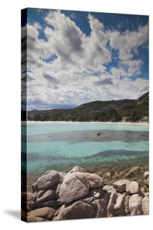 Plage De Palombaggia Beach, Porto Vecchio, Corsica, France-Walter Bibikow-Stretched Canvas Print