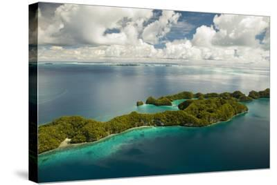 Aerial View of Rock Islands of Palau, Micronesia-Michel Benoy Westmorland-Stretched Canvas Print