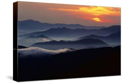 Sunset over the Great Smoky Mountains National Park, Tennessee, USA-Jerry Ginsberg-Stretched Canvas Print