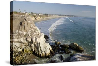 Rocky Coastal Overview, Pismo Beach, California, USA-Cindy Miller Hopkins-Stretched Canvas Print