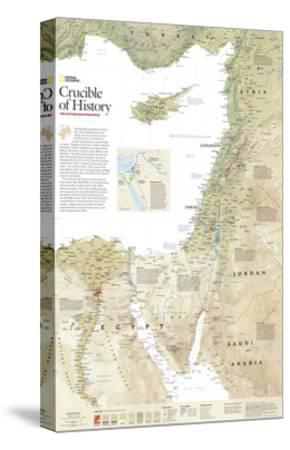 2008 Crucible of History, the Eastern Mediterranean-National Geographic Maps-Stretched Canvas Print