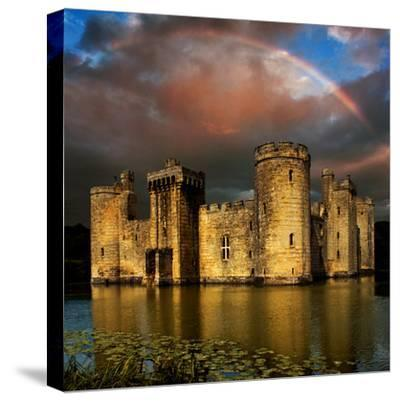 Moods over Bodiam-Adrian Campfield-Stretched Canvas Print