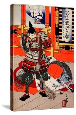 Cleaning Deck, from the Series Yoshitoshi's Incomparable Warriors-Yoshitoshi Tsukioka-Stretched Canvas Print