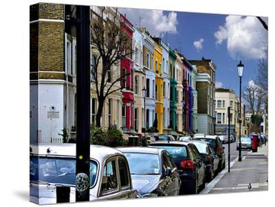 Lancaster Road Colorful Apartments in Notting Hill, London-Anna Siena-Stretched Canvas Print