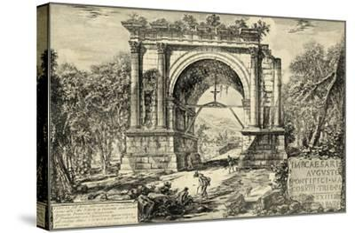 Vintage Roman Ruins II-Giovanni Piranesi-Stretched Canvas Print