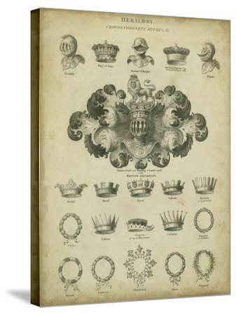 Heraldic Crowns and Coronets I-Milton-Stretched Canvas Print