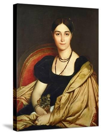 Madame Antonia Devaucay De Nittis, 1809-Jean-Auguste-Dominique Ingres-Stretched Canvas Print