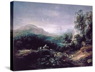 Landscape with Bridge-Thomas Gainsborough-Stretched Canvas Print