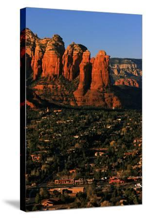 Morning Sunlight on the Red Rocks Rock Formation-Babak Tafreshi-Stretched Canvas Print