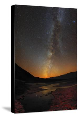 The Milky Way and Zodiacal Light over Badwater Basin in Death Valley-Babak Tafreshi-Stretched Canvas Print