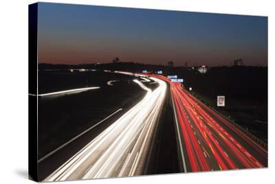 Rush Hour on the A8 Autobahn, Stuttgart, Baden Wurttemberg, Germany, Europe-Markus Lange-Stretched Canvas Print