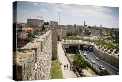 The Old City Walls, UNESCO World Heritage Site, Jerusalem, Israel, Middle East-Yadid Levy-Stretched Canvas Print