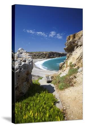 Beach in Rethymno, Crete, Greek Islands, Greece, Europe-Sakis Papadopoulos-Stretched Canvas Print