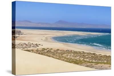 Dunes at Playa De Sotavento-Markus Lange-Stretched Canvas Print