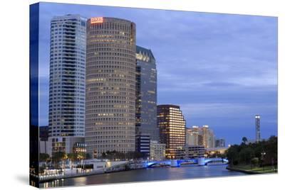Hillsborough River and Skyline, Tampa, Florida, United States of America, North America-Richard Cummins-Stretched Canvas Print