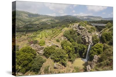 Sa'Ar Waterfall at the Hermon Nature Reserve, Golan Heights, Israel, Middle East-Yadid Levy-Stretched Canvas Print