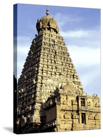 Brahadeeshwara Temple, UNESCO World Heritage Site, Thanjavur, Tamil Nadu, India, Asia-Balan Madhavan-Stretched Canvas Print