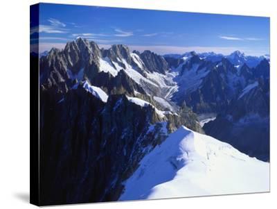 Mont Blanc Mountain Range, Alps, Haute Savoie, France-Roy Rainford-Stretched Canvas Print