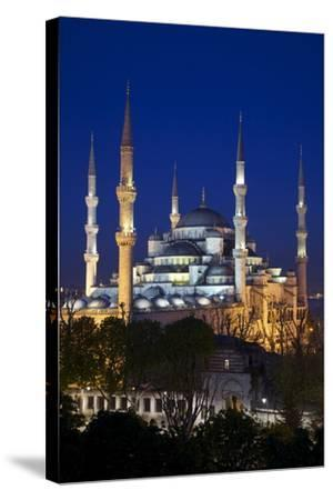 Blue Mosque (Sultan Ahmet Camii), UNESCO World Heritage Site, at Dusk, Istanbul, Turkey, Europe-Neil Farrin-Stretched Canvas Print