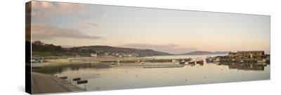 Panoramic View Back to the Harbour at Lyme Regis Taken from the Cobb-John Woodworth-Stretched Canvas Print