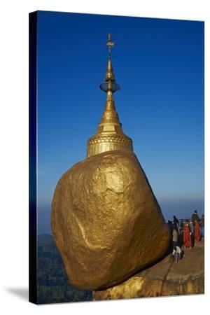 Monks and Pilgrims, Kyaiktiyo Golden Rock, Mon State, Myanmar (Burma), Asia-Tuul-Stretched Canvas Print