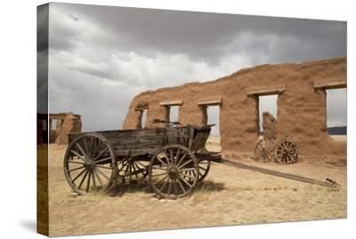 Old Wagons, Fort Union National Monument, New Mexico, United States of America, North America-Richard Maschmeyer-Stretched Canvas Print