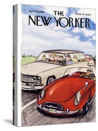 The New Yorker Cover - April 16, 1966-Charles Saxon-Stretched Canvas Print