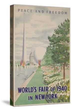 1940 New York World's Fair Poster--Stretched Canvas Print