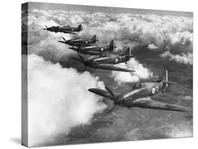 Hawker Hurricanes in Flight--Stretched Canvas Print