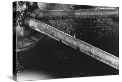 Pipes of an Oil Drilling Platform--Stretched Canvas Print